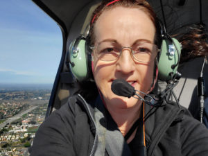 Lenka Bracknell, licensed fixed wing and drone pilot